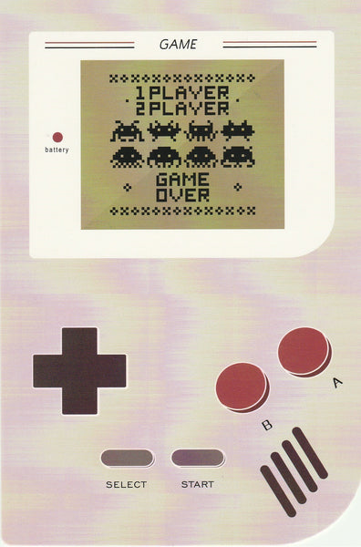Gameboy Console Postcard - Alien Attack