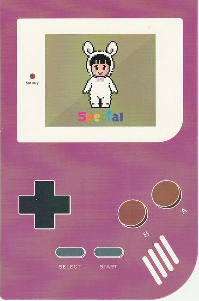 Gameboy Console Postcard - Bunny Girl