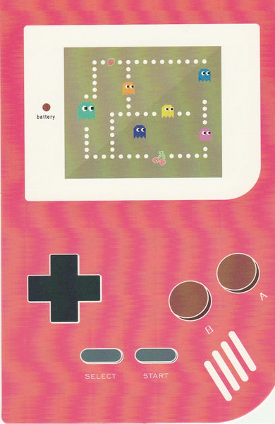 Gameboy Console Postcard - Pacman