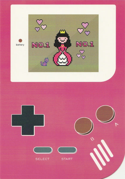 Gameboy Console Postcard - Princess