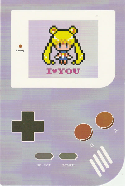 Gameboy Console Postcard - Sailormoon