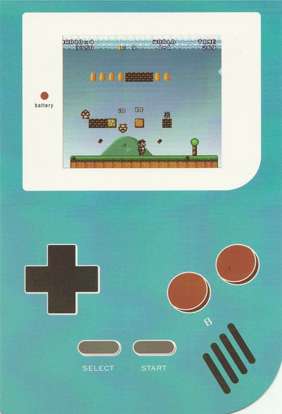 Gameboy Console Postcard - Mario Brothers (Green)