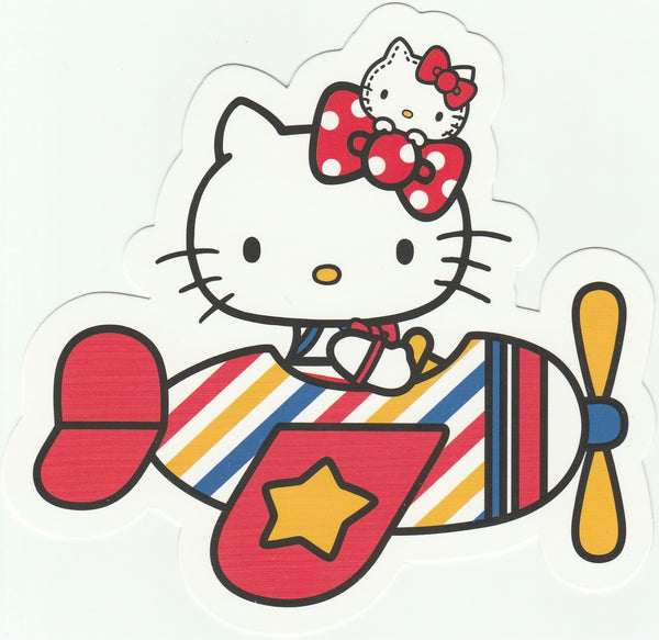 Sanrio Hello Kitty Go Around Postcard (KT08) - Aeroplane