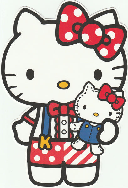 Sanrio Hello Kitty Go Around Postcard (KT04) - Mini Plush Doll