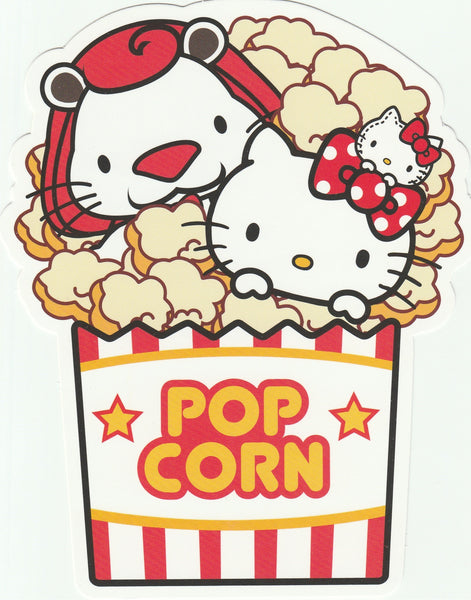 Sanrio Hello Kitty Go Around Postcard (KT01) - Popcorn