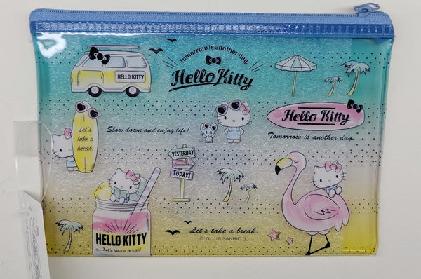 [FREE with USD30 purchase!] Sanrio Hello Kitty Blue Summer Beach Pouch