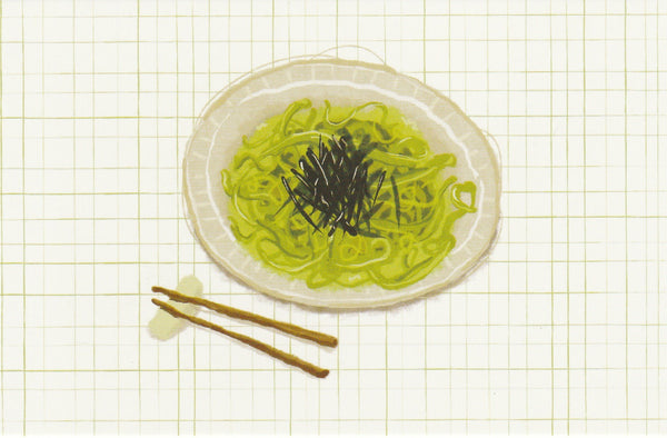 Matcha Green Tea Postcard - CL03 (Soba Noodles)