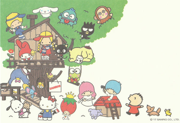 Sanrio Friends Treehouse Postcard