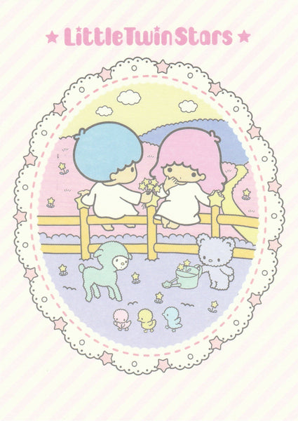Japan Sanrio - Little Twin Stars Kiki & Lala Postcard