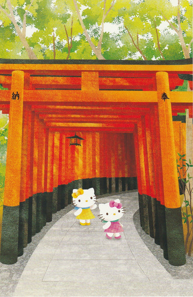 Japan Sanrio - Hello Kitty Kyoto Postcard