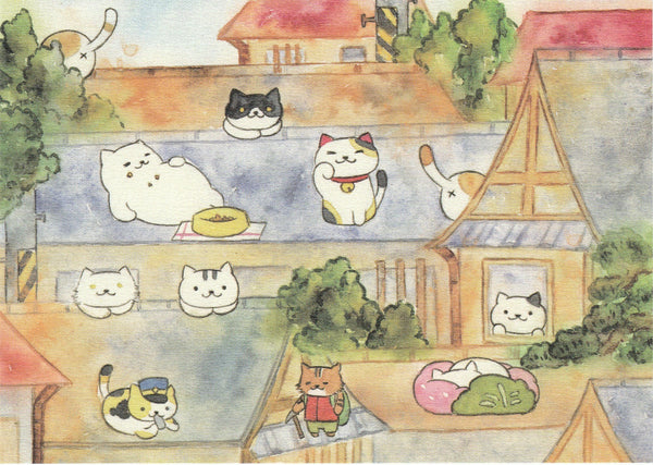 Neko Atsume Kitty Collector Postcard YT01