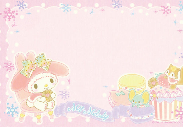 Japan Sanrio - My Melody Strawberry Sweets Cupcakes Postcard