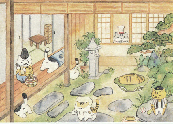 Neko Atsume Kitty Collector Postcard YT02