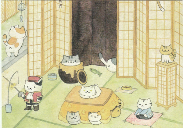 Neko Atsume Kitty Collector Postcard YT03