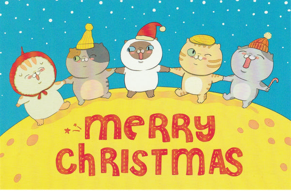 Christmas Cats Postcard - CC08