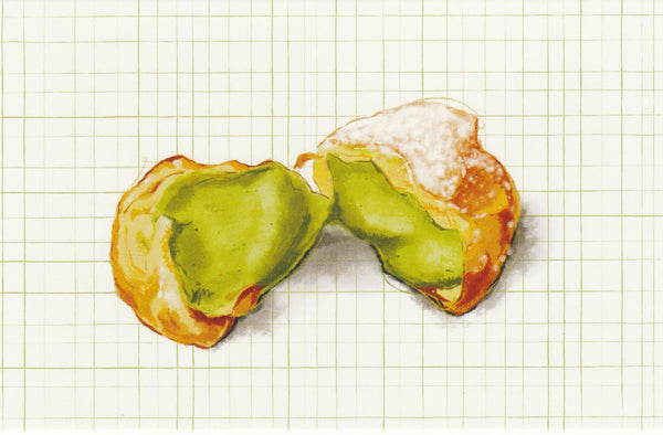 Matcha Green Tea Postcard - CL10 (Choux Pastry Puff)