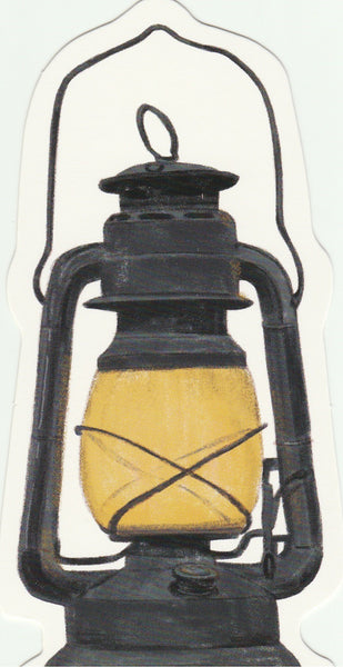 Vintage Retro Collection -  Oil Lamp Postcard