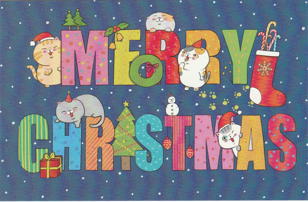 Christmas Cats Postcard - CC12