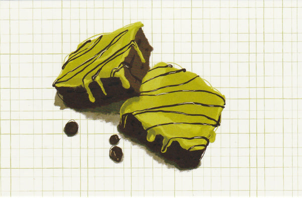 Matcha Green Tea Postcard - CL12 (Brownie)