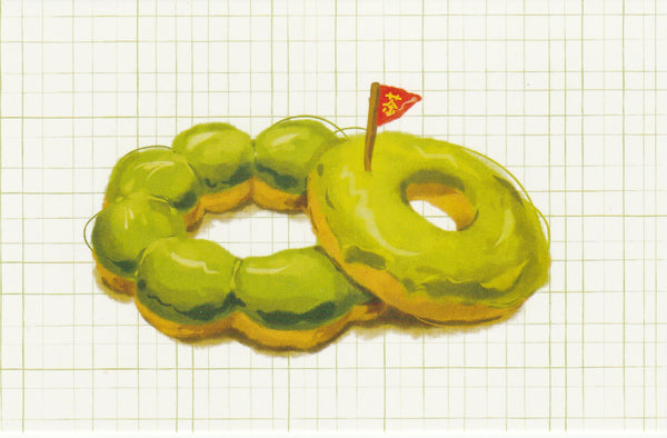Matcha Green Tea Postcard - CL13 (Donuts)