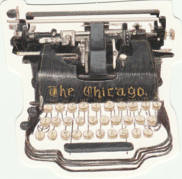 Vintage Retro Collection - The Chicago Typewriter Postcard