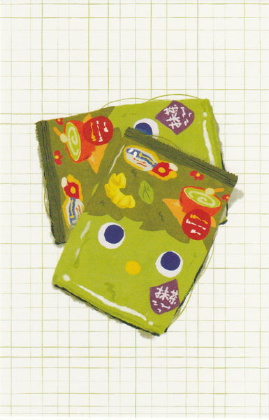 Matcha Green Tea Postcard - CL17 (Tohato Snack)