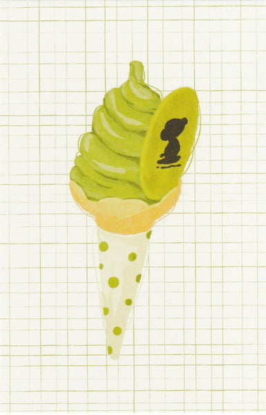 Matcha Green Tea Postcard - CL19 (Soft serve icecream)