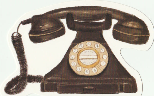 Vintage Retro Collection - Dial Phone Postcard