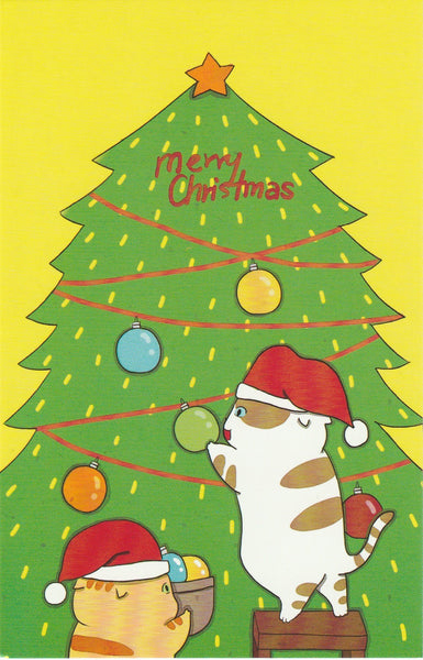 Christmas Cats Postcard - CC27