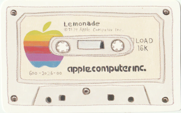 Vintage Retro Collection - Apple Computer Cassette Tape Postcard
