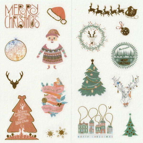 [FREE with US$10 purchase!] Christmas Sticker Set A