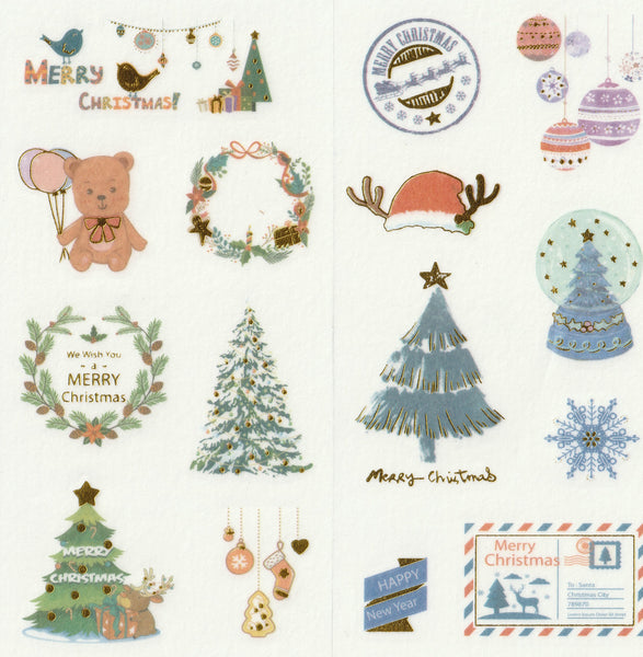 [FREE with US$10 purchase!] Christmas Sticker Set B