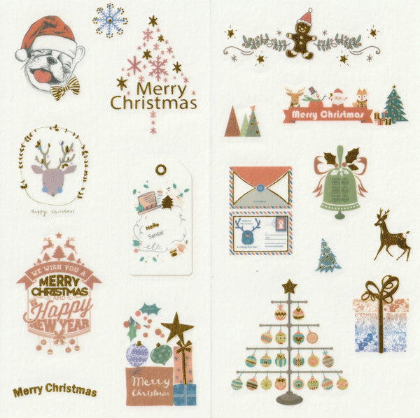 [FREE with US$10 purchase!] Christmas Sticker Set C