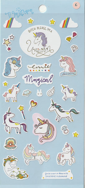 Unicorn Stickers Set C
