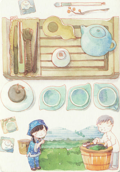 Ever & Ein Postcard - Food Series - Tea Plantation