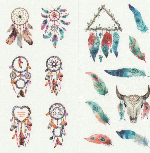 [FREE with US$10 purchase!] Dreamcatcher Sticker Set B