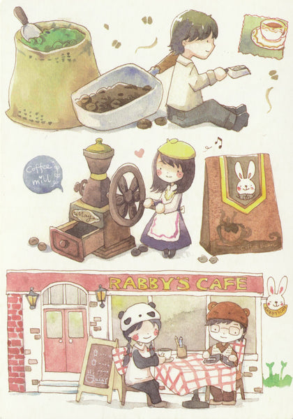 Ever & Ein Postcard - Food Series - Coffee at Rabby's Cafe