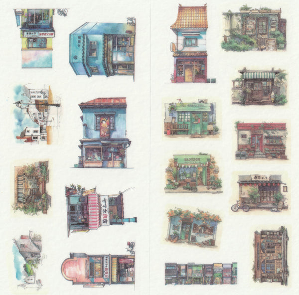 [FREE with US$10 purchase!] Architectural Buildings Sticker Set A