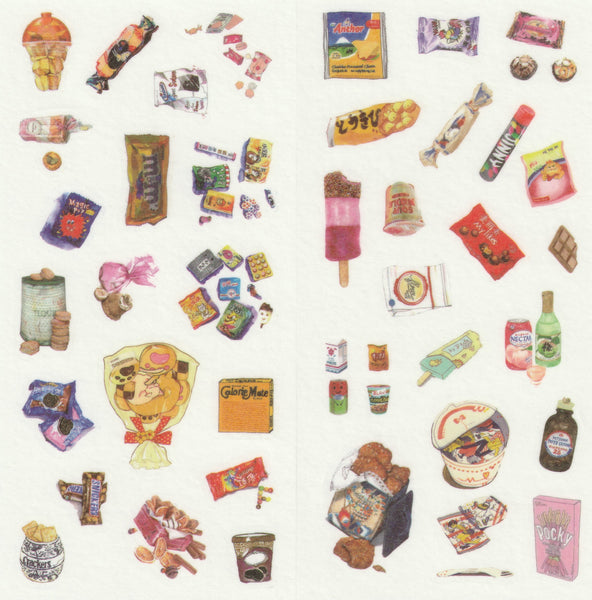 [FREE with US$10 purchase!] Food Series - Tidbits Sticker Set C