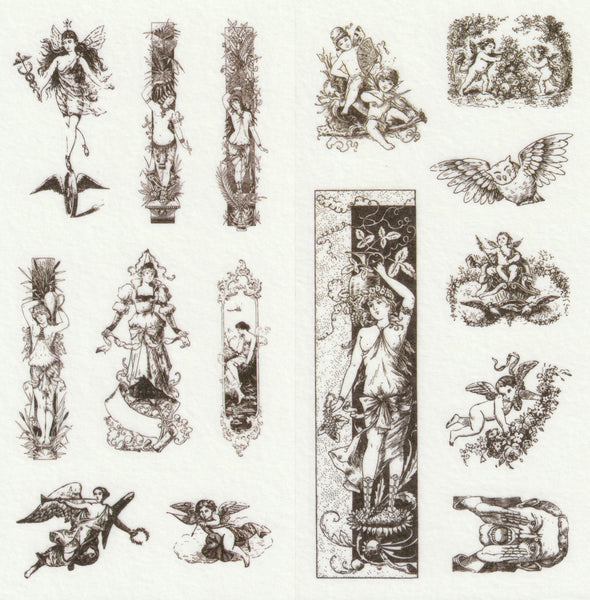 [FREE with US$10 purchase!] European Renaissance Stickers Set A