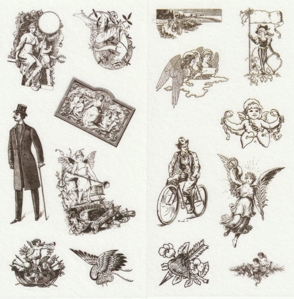 [FREE with US$10 purchase!] European Renaissance Stickers Set B
