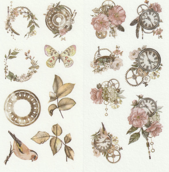 [FREE with US$10 purchase!] Floral Series - Timeless Beauty Sticker A