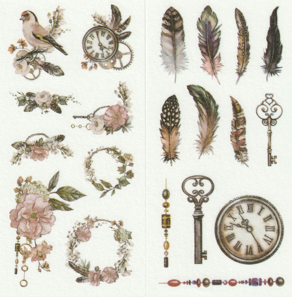 [FREE with US$10 purchase!] Floral Series - Timeless Beauty Sticker B