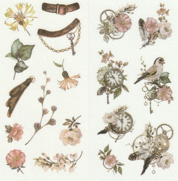 [FREE with US$10 purchase!] Floral Series - Timeless Beauty Sticker C