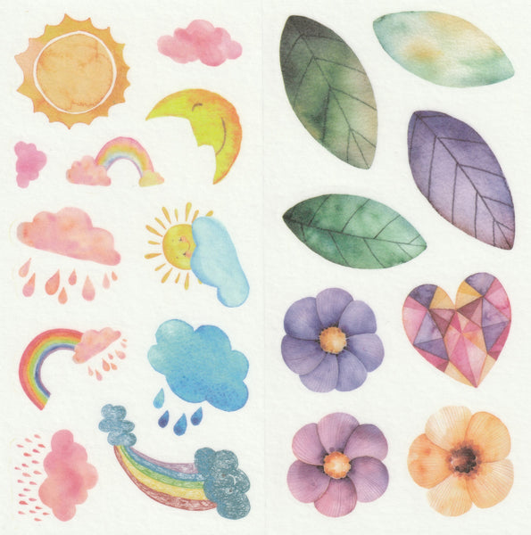 [FREE with US$10 purchase!] Floral Series - Magical Flowers Blooms Stickers Set B