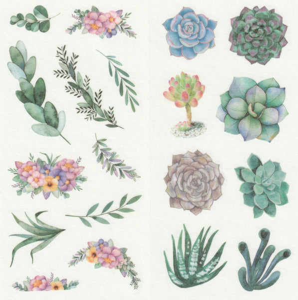 [FREE with US$10 purchase!] Floral Series - Magical Flowers Blooms Stickers Set C
