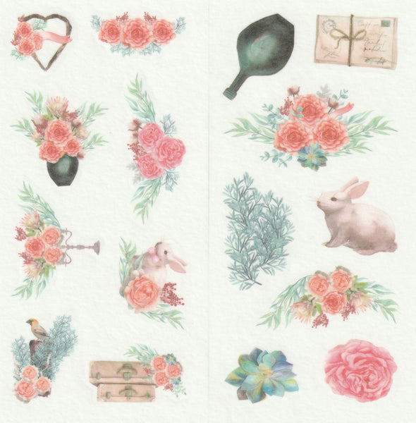 [FREE with US$10 purchase!] Floral Series - Wedding Garden Party Stickers Set C