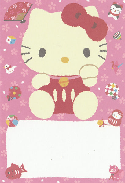 Japan Sanrio - Hello Kitty Japanese Doll Postcard