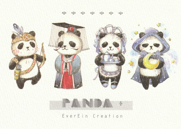 Ever & Ein Postcard - Panda Series (P01)