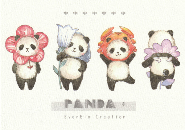 Ever & Ein Postcard - Panda Series (P02)
